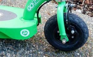 close look at tires and brakes