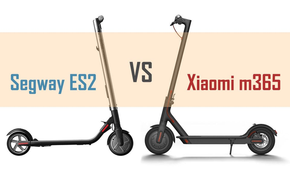 Large comparison of the Segway ES2 and Xiaomi m365