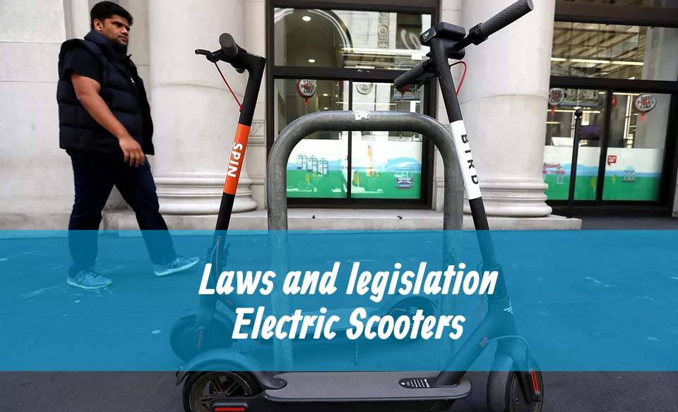 Law for riding scooter