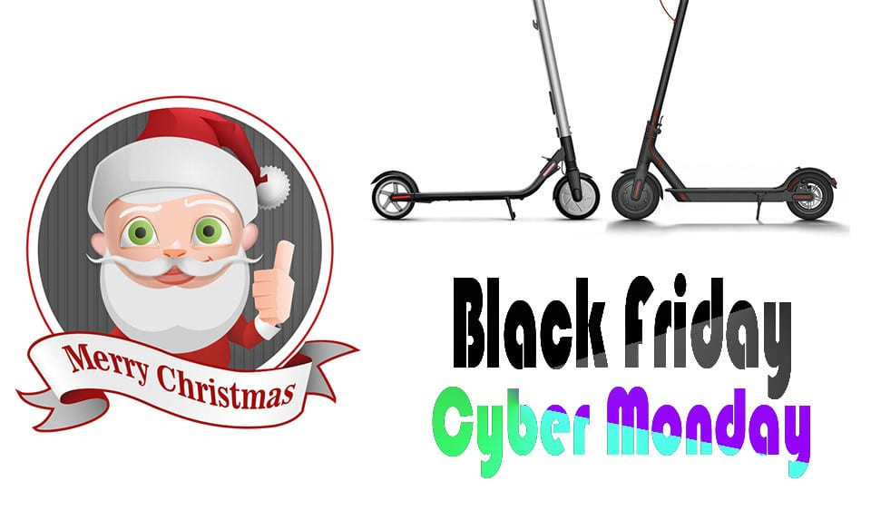 Black friday Cyber monday electric scooter santa approved