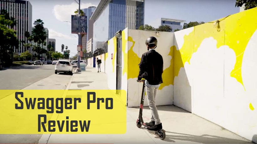Swagger Pro SG3 riding down a street